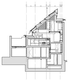 Secret hatches, moving walls and a sliding ladder feature inside the Edinburgh home of Richard Murphy, which has been named RIBA House of the Year 2016 Edinburgh Uk, Moving Walls, Section Drawing, Architectural Section, Dezeen, Architecture Details, Facade, House Plans, Floor Plans