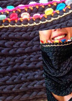 Crochet Cowl - Tutorial (Use Google Translator)  ❥ 4U // hf