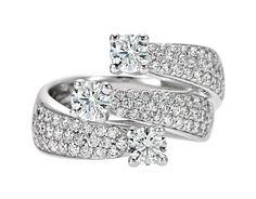 Recarlo anello trilogy con diamanti  collezione eternity XE678/165 - Orafinrete -