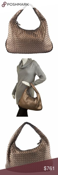 Bottega Veneta Intrecciato Bag (133357) Exterior Condition: Gently Used Material: Leather Origin: Italy Meas (L x W x H): 15x1x10 Production Code: 115653 V0041 1203 This Bottega Veneta shoulder bag features: -Exterior corners show scuffing -Exterior edges show scuffing -Exterior leather shows scuffing in various locations -Handle shows scuffing and wear -Interior shows light staining and wear -Interior pocket shows pen mark staining Ref: 135647-133357-NIP-SH IPL: Luce 8-5-1 Bottega Veneta…