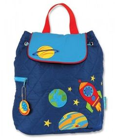 Stephen Joseph Quilted Backpack- Space