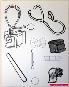 doctor bag craft template - printable community helper coloring pages for kids