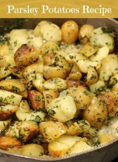 Parsley Potatoes; oh so easy to make, these Parsley Potatoes are a delicious alternative to baked potatoes.