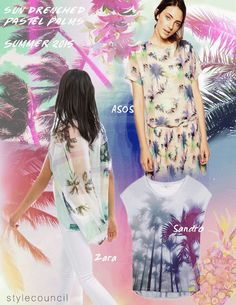 Style Council Blog - Tropical Trend Report - Sun Drenched Pastel Palms -Summer 15
