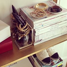 bookends and coasters as jewelry holders