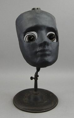 Ophthalmophantome. The prongs were used to hold pig eyes for practicing surgeons.