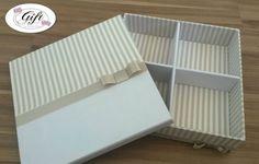 Caixa Kit toillet listrada 4 repartições