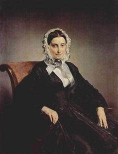 • Francesco Hayez - Ritratto di Teresa Manzoni Stampa Borri (1847-49). Gallerie d'Italia.