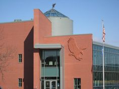 4. The National Eagle Center in Wabasha is another amazing stop on the way. You can see the live eagles and enjoy the views behind the building!