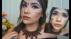 Native Indian Inspired Makeup 2016 - YouTube