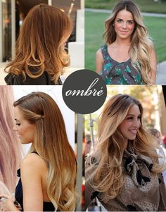 Ombre- What I love about these four looks is the fact that there isn't a huge contrast between dark and light, and gives the look of roots naturally grown out