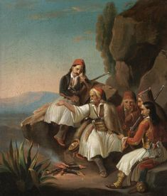 '' War Council ''by Theodoros Vryzakis - Greek Paintings, European Paintings, Greek Independence, Greek Warrior, Greek History, Greek Art, Freedom Fighters, Chiaroscuro, Artist Art