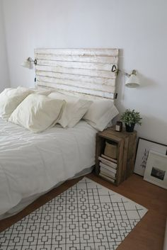 Cabecero DIY de listones de madera Nuevo dormitorio | Decoración