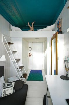 Loft Bed - Love this play area over the bed, like the anti-loft bed