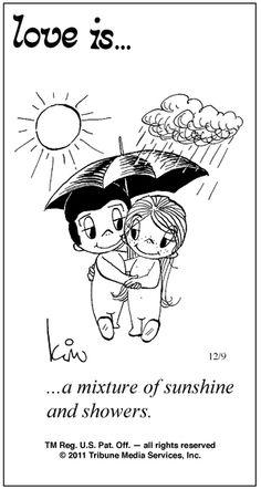 sunshine and showers
