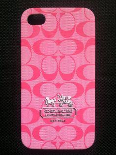 Pink Coach Phone Case