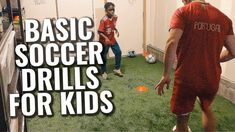 Basic Soccer Drills For Kids | Soccer Passing, First Touch, Ball Control... Soccer Drills For Beginners, Soccer Drills For Kids, Soccer Skills, Soccer Tips, Kids Soccer, Soccer Ball, Inspirational Soccer Quotes, Soccer Training, Training Tips