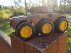 TootsieToy Metal Military M-2 Armored Car Toy, Military Armored Tank Vehicle, Brown Camo, Tootsie Toy