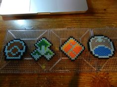 Perler Pokemon Sinnoh Badges by ShadowsSolstice on Etsy, $12.00 Melty Bead Patterns, Pearler Bead Patterns, Pearler Beads, Beading Patterns, Bead Crafts, Fun Crafts, Pokemon Sprites, Pokemon Perler Beads, Cross Stitch Boards
