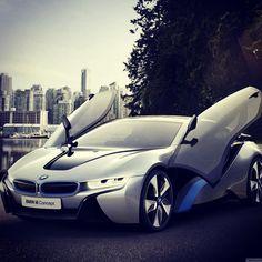 BMW i8 Concept silver car