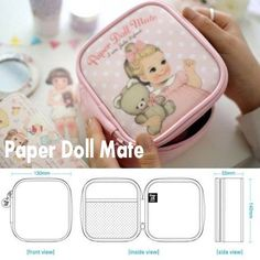 """Cosmetics Case Travel Accessory Organizer-paper Doll Mate-makeup Pouch-small Bag by Paper Doll Mate. $17.49. Afrocat Paper Doll Mate Makeup Pouch - Small - Cosmetics Case / Makeup Bag / Travel Accessory Organizer Material PVC, Enamel, Polyester Size(W x H x D) 130 mm x 150 mm x 55mm (5.11"""" x 5.90"""" x 2.16"""")"""