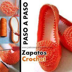 Zapatos Crochet Paso a paso - Marielbis Colmenarez - Zapatos Crochet Paso a paso. Crochet Sandals, Crochet Boots, Cute Crochet, Crochet Crafts, Crochet Yarn, Crochet Clothes, Crochet Projects, Crochet Slipper Pattern, Crochet Patterns