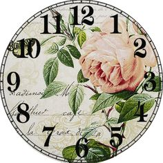 clock face … Decoupage Vintage, Vintage Maps, Recycled Cd Crafts, Shabby Chic Clock, Clock Flower, Decoupage Printables, Flower Background Wallpaper, Craft Images, Clock Art
