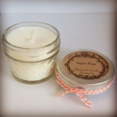 4oz quilted Ball jar scented soy candle
