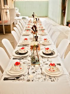 1920's High Tea /Black and Red Theme