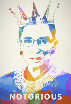 A colorful painting in tribute to Ruth Bader Ginsburg. #painting #rbg #women #politics #ginsburg