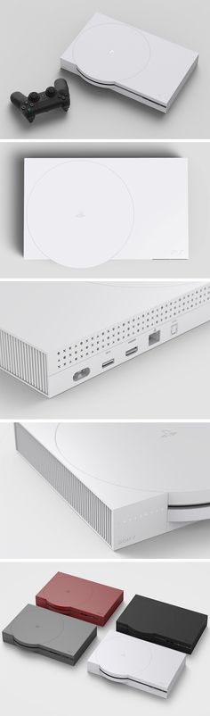 This PlayStation redesign concept pays tribute to the design style of the original PlayStation and the PSone with its sleek and suprematist combination of circle and square, while also cleverly using the controller's button symbols as design elements. It takes everything that's lovable about the old design, and blends it wonderfully with crisp straight lines and a sleek interface and experience.