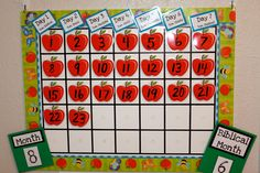 Calendar and Morning Board {Routine!} She teaches biblical calendar! and has fun Hebrew song for days of the week.