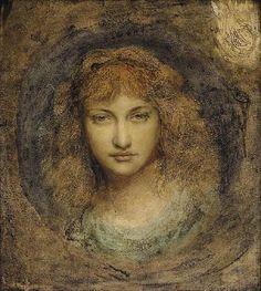 Solomon, Simeon (1840-1905) - Head of a Woman