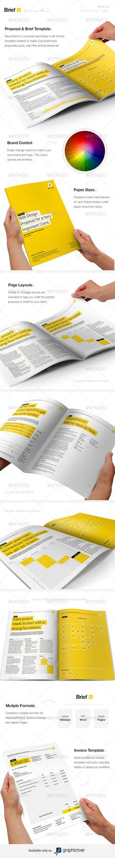 Brief - Proposal Template - Proposals & Invoices Stationery