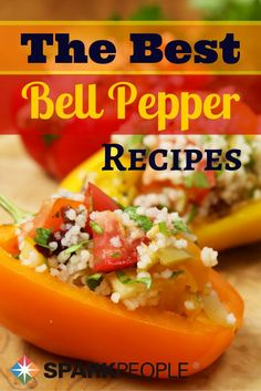 6 Ways to Pick Peppers for Dinner. Take a peek at our perfectly procured pepper recipes today! | via @SparkPeople