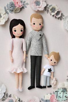 Bonequinhos família com molde