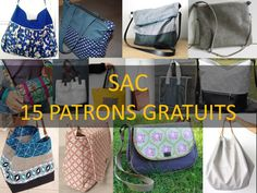 PATRON COUTURE GRATUIT : 15 MODÈLES DE SAC Bettinael.Passion.Couture.Made in france