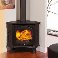 Altea Corner Woodburning Stove are proudly stocked by UK Stoves. We stock a wide range of Modern Wood Burning Stoves available through-out the UK to the trade and the public. Wood Burning Stove Corner, Wood Burning Logs, Modern Wood Burning Stoves, Corner Stove, Corner Gas Fireplace, Corner Log Burner, Wood Stoves, Kitchen Corner, Kitchen Tips