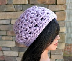 Lavender Ice   Boho Slouchy Beanie  Ready to Ship by Threadmill, $26.00