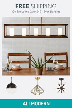 Sign up on AllModern and find lighting for your home.Visit AllModern today to explore our selection and for exclusive access to deals for your modern home. Free shipping on orders over $49!
