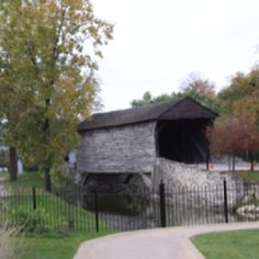 Covered bridge at Greenfield Village
