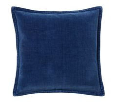 Washed Velvet Pillow Cover - Indigo