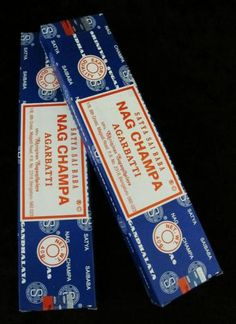 """Nag Champa Incense Sticks. """"One of the Favorite Scents."""""""