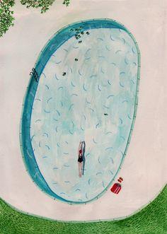 Lizzy Stewart: Swimming Pool, June 2014