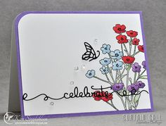 Celebrate from Joyful Creations with Kim for the Curtain Call Inspiration Challenge.  The sponsor is Penny Black so all product on his card is PB -and there's a chance to win some Penny Black if you play along!