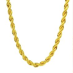 Purchase Chunky Yellow Gold Filled Solid Rope Curb Link Chain from Unique Jewels on OpenSky. Share and compare all Jewelry. Gold Rope Chains, 14k Gold Chain, Gold Plated Necklace, Gold Gold, Rope Necklace, Necklaces, Bling, Yellow, Jewelry