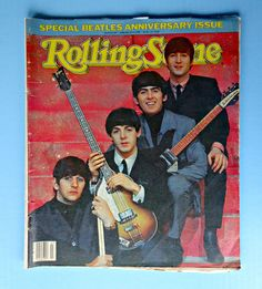 The Beatles 1984 Rolling Stone Anniversary Magazine Issue 145 Vintage Music Old #Beatles20thAnniversaryTributeCollectorSpecial