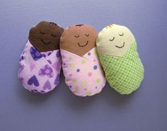 My Baby Buddy Mini Stuffed Swaddle Baby