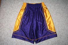 Eastbay shorts purple & gold medium 100% polyester Mens Choice men man solid #Eastbay #Shorts