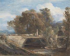 Samuel Palmer | Crossing the Bridge | 1847 | The Morgan Library & Museum